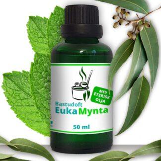 Bastudoft eukamynta eterisk eukalyptus och mynta olja